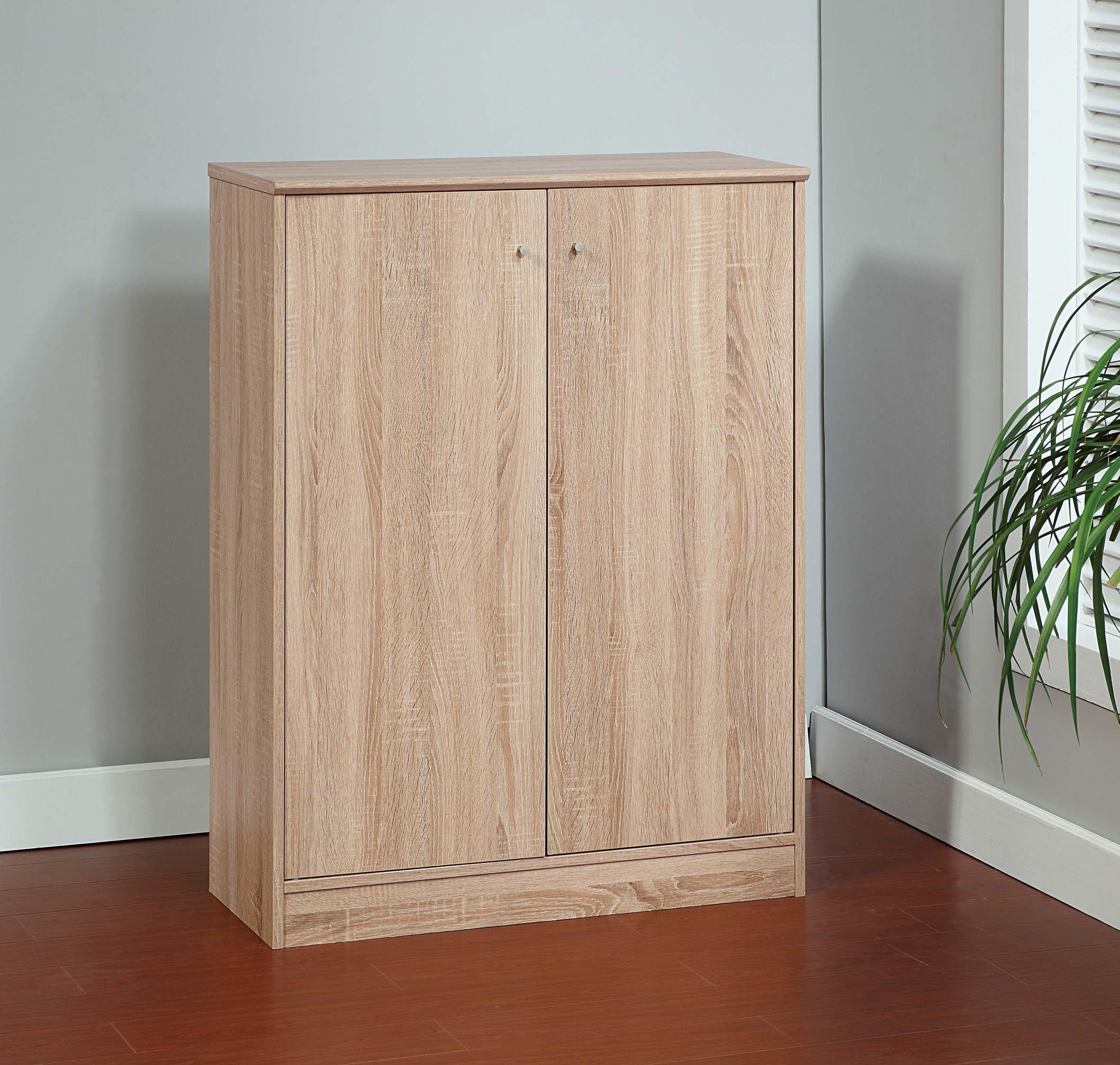 Smart Home 5 Tier 5 Shelves Shoe Cabinet Closet Organizer (Weathered White)