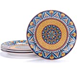 Bico Havana Salad Plates Set of 4, Ceramic, 8.75 inch, Microwave & Dishwasher Safe