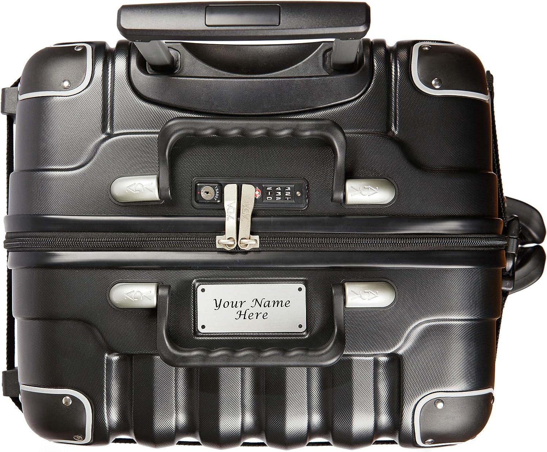 Placa de identificación Personalizada - VinGardeValise 03 Petite - Maleta de Viaje para vinos & de usos múltiples - 55 x 45 x 33 cm - hasta 8 Botellas (Negro)