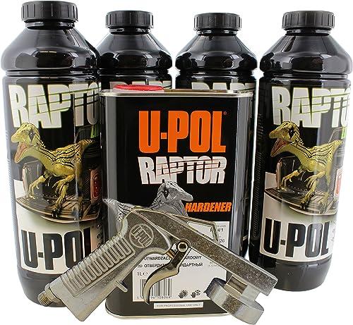 U-Pol 0820V-Gun Black Urethane Truck Bed Liner Kit