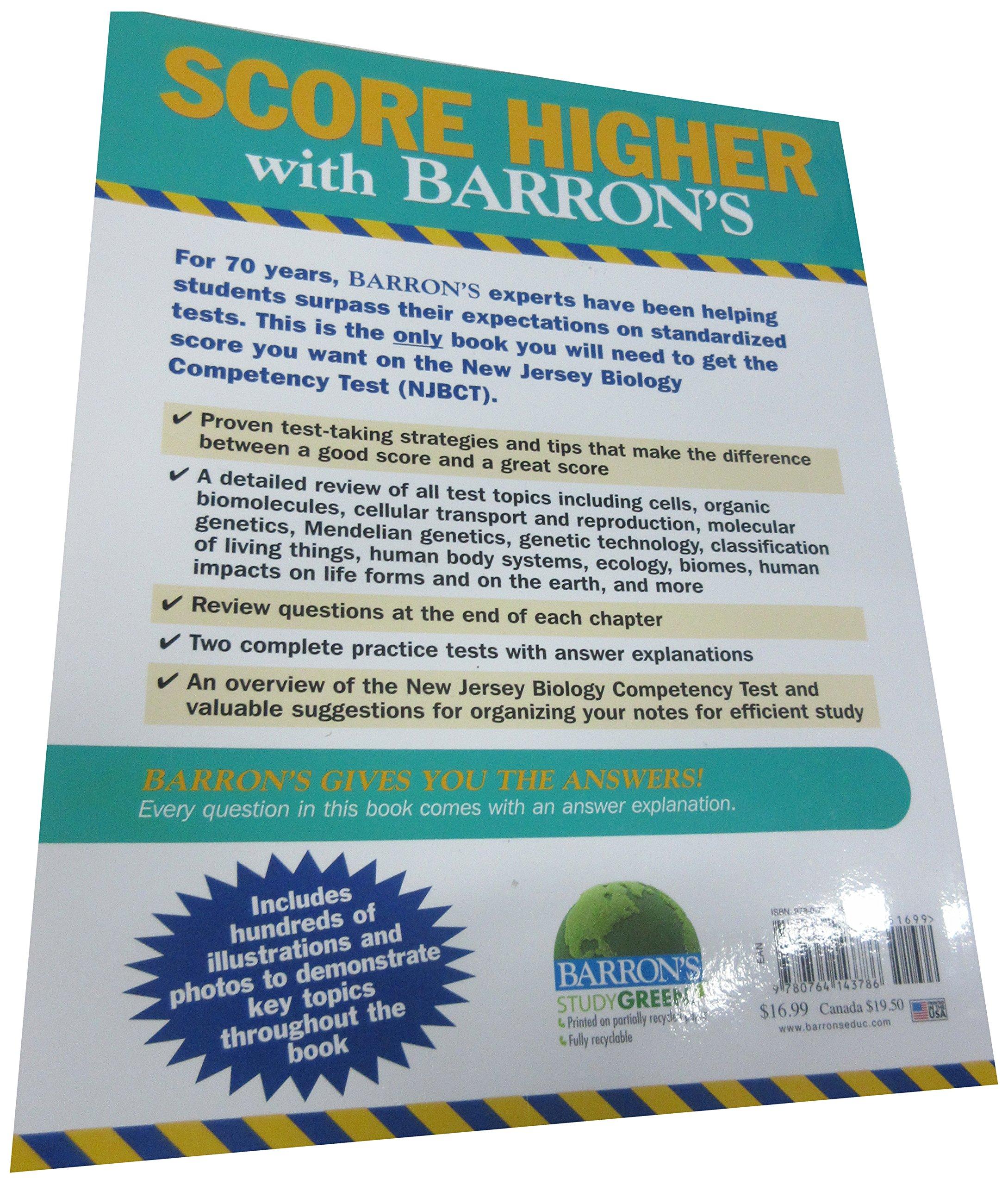 Barron's New Jersey Biology Competency Test: Cynthia