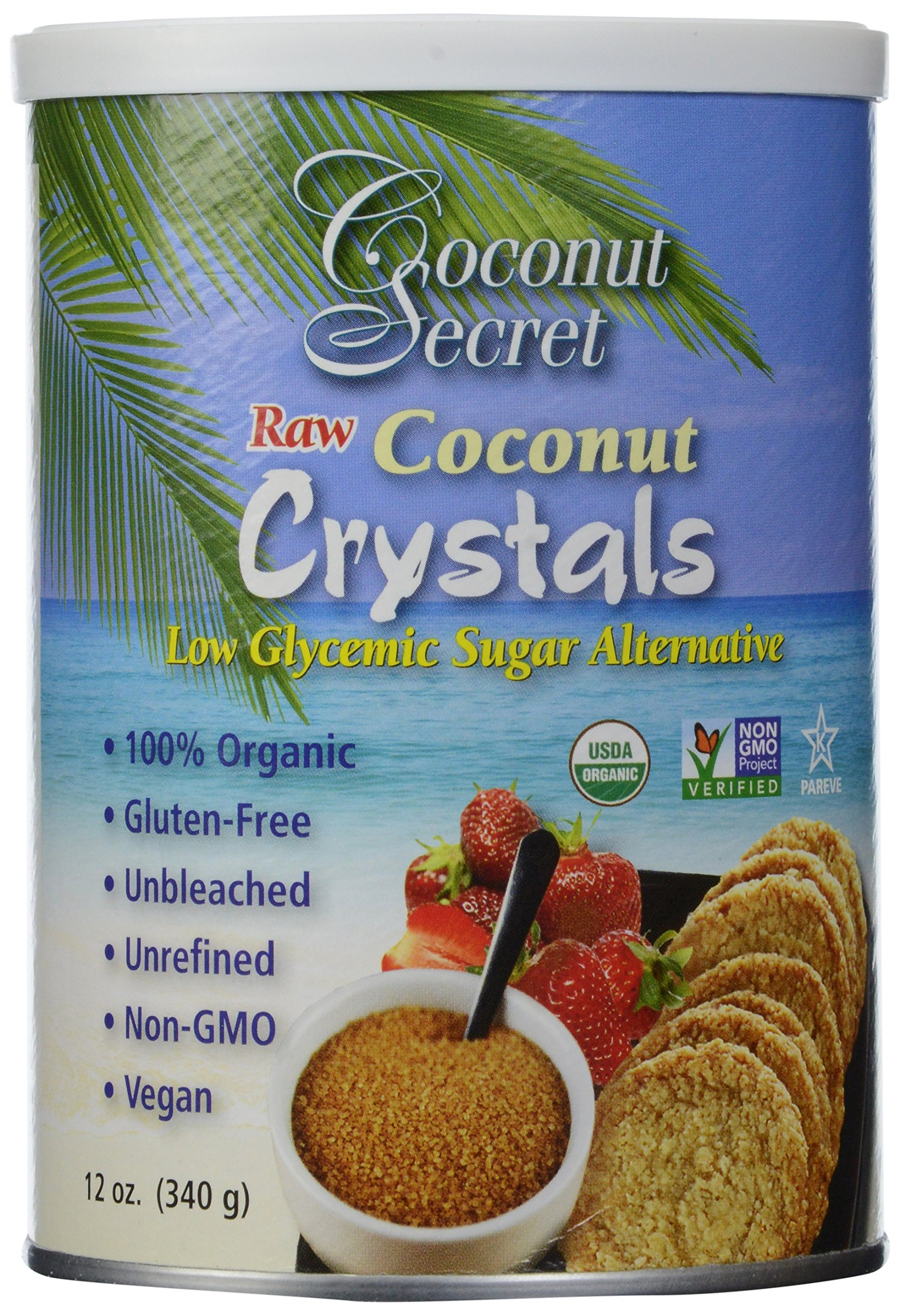 Coconut Secret Coconut Crystals, Raw, 12-Ounce