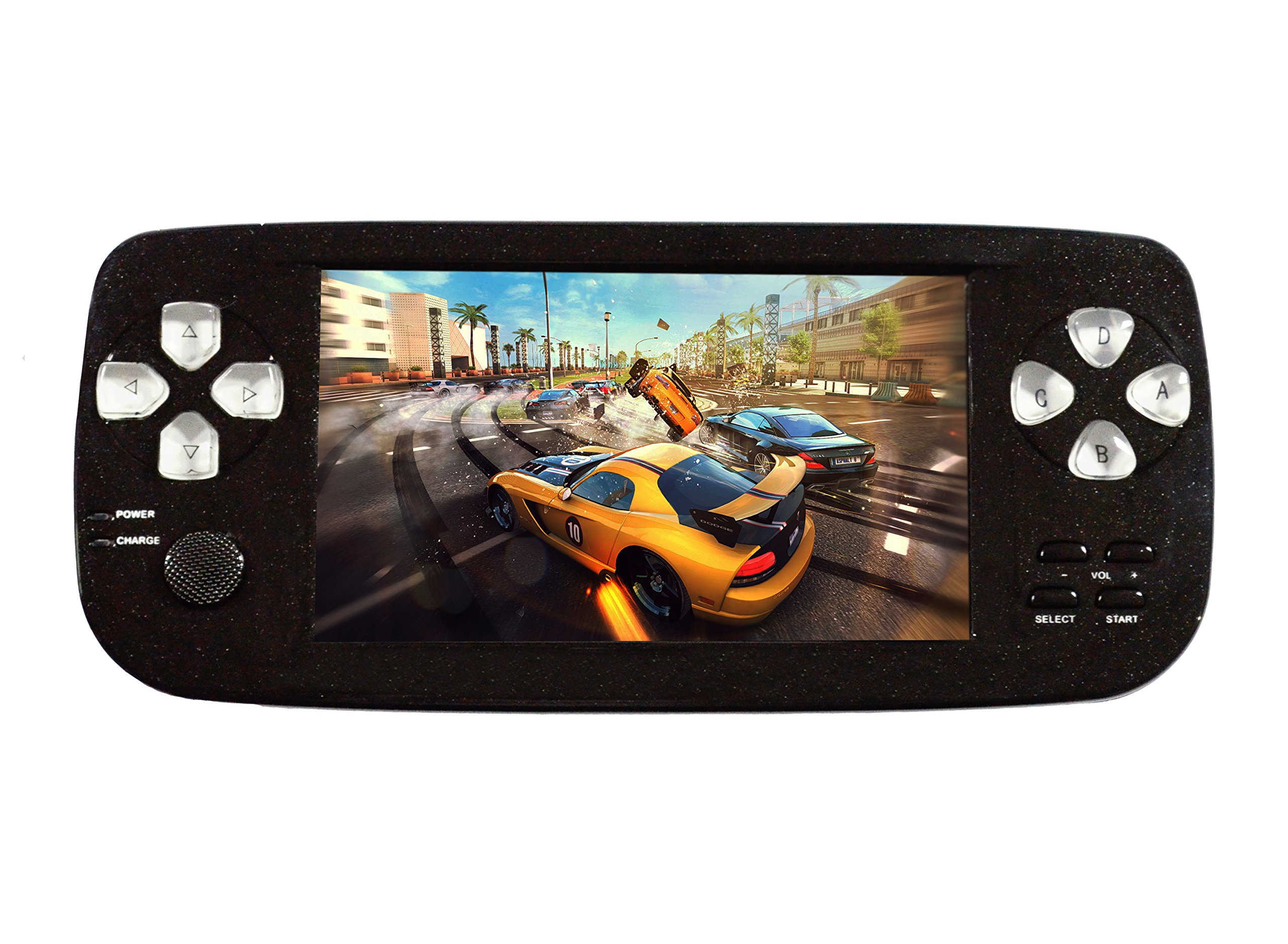 Handheld Game Console , Portable Video Game Console 4.3 Inch Screen 653 Classic Games , Birthday Present for Children - Black
