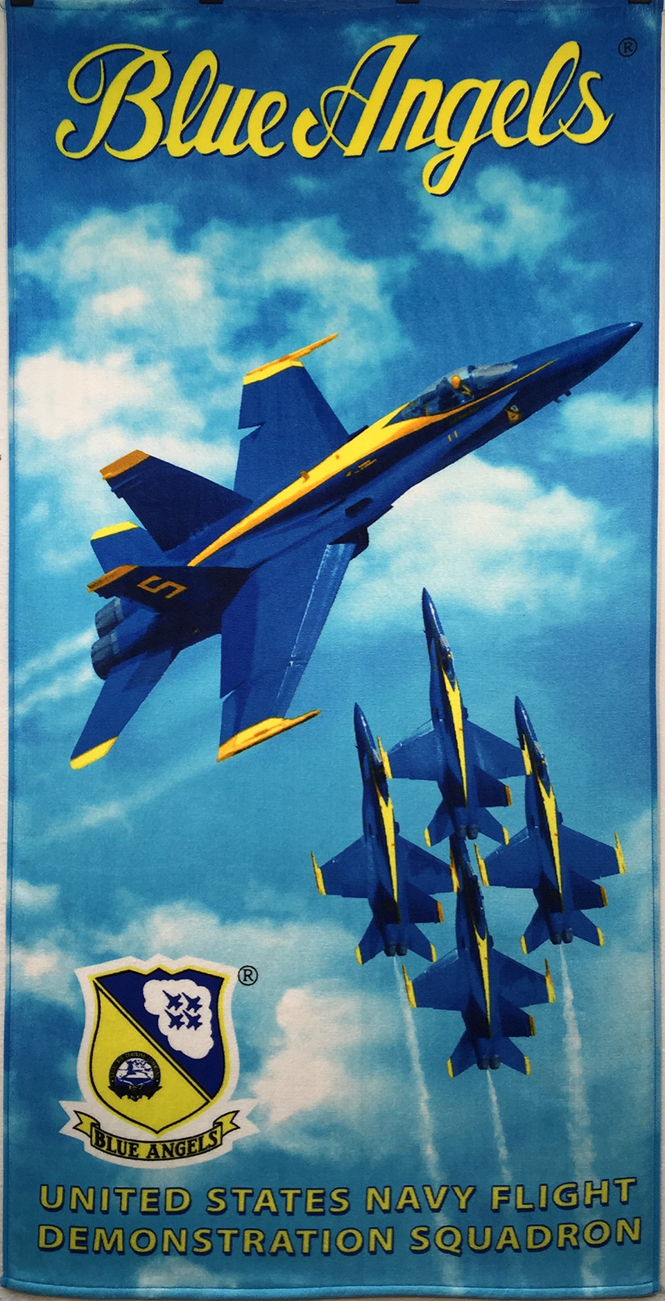 Blue Angels Licensed Brazilian Velour Beach Towel 30x60 inches
