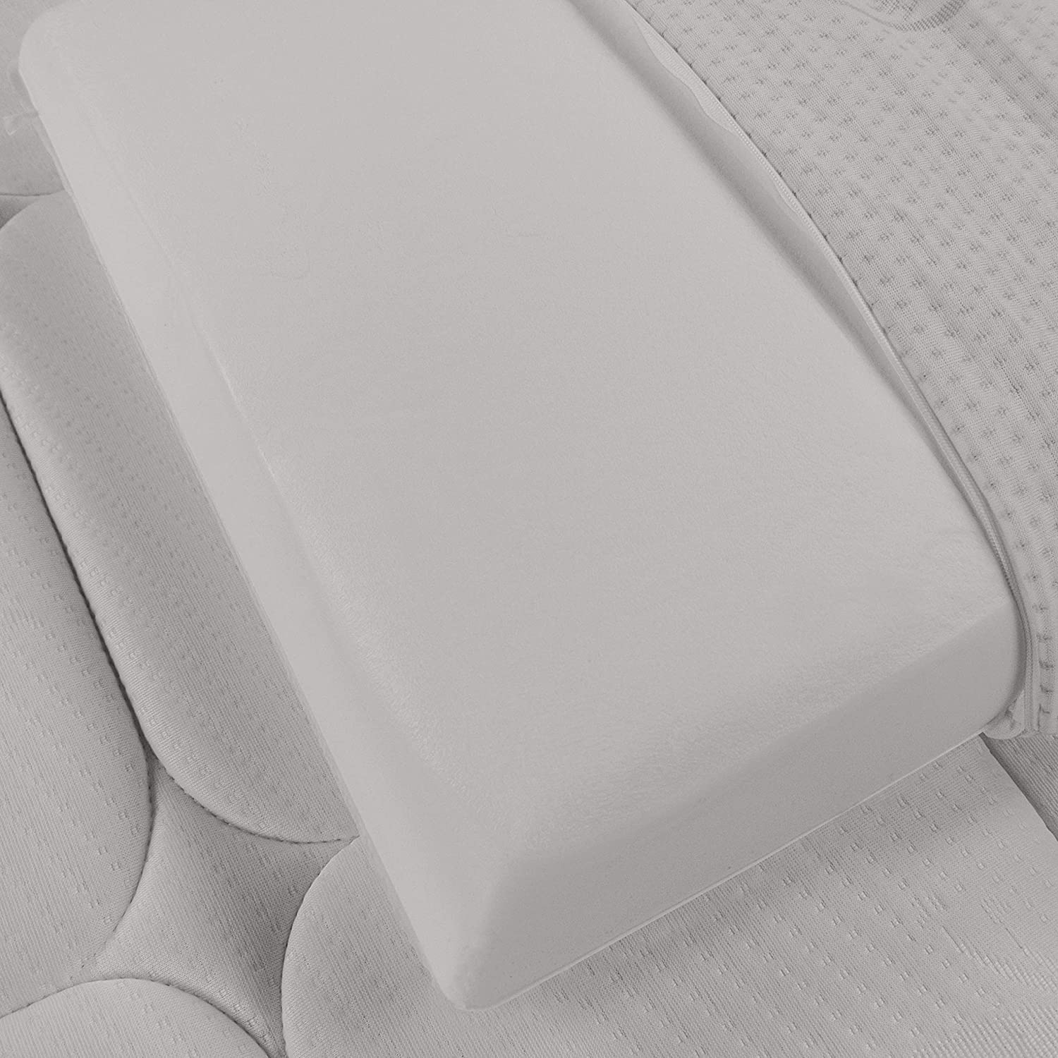 Cuscino in Memory Foam Baldiflex Fodera in Silver Safe Modello Saponetta