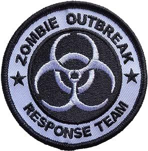 Amazon.com: Zombie Outbreak Response Team Biohazard Logo ...