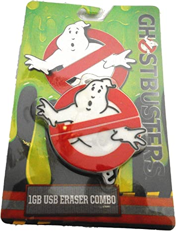 Ghostbusters 1GB USB Drive Eraser Combo Halloween or Back to School Supplies