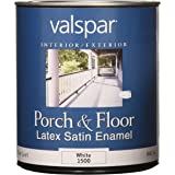Valspar 27-1500 QT 1 Quart White Porch and Floor Latex Satin Enamel
