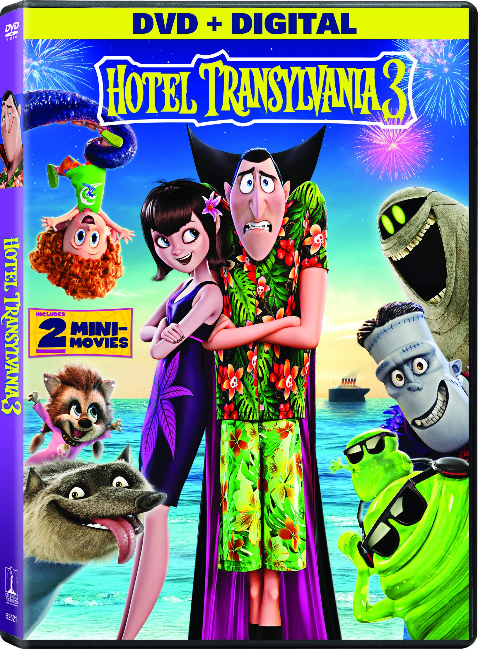 DVD : Hotel Transylvania 3: Summer Vacation (Digital Copy, Widescreen, Dubbed, Subtitled, Dolby)