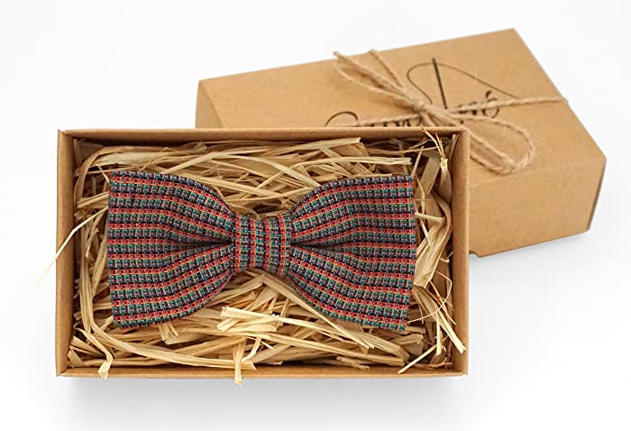 rustic bow tie unique gifts for men christmas gifts for him unique gifts for men linen