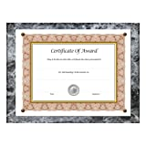 "Award Plaque 13"" x 10.5"" Black Marble"