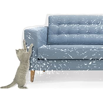 Amazon Com Plastic Couch Cover For Pets Cat Scratching