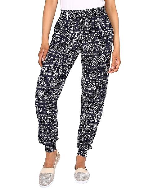 Pantalones Bombachos Elefantes[Azul Marino, M/L]: Amazon.es ...