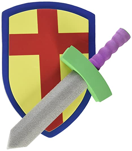 Childrens Foam Toy Medieval Joust Sword & Shield Knight Set Lightweight Safe For Birthday Party Activities, Event Favors, Toy Gifts By Super Z Outlet Pretend Play at amazon