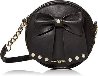 Karl Lagerfeld Paris womens Kris Novelty Fara Pu Bow Canteen Crossbody