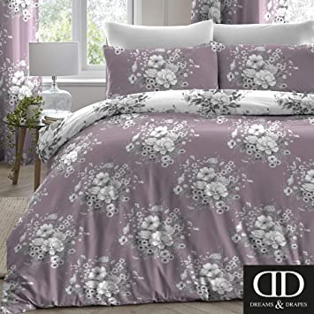 Time 4 Dreams Copripiumino.Dreams Drapes Mirabella Easy Care Duvet Cover Set Lavender