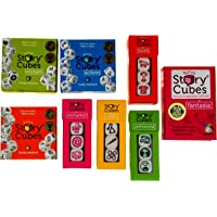 Rory's Story Cubes Bundle - Includes Rory's Story Cubes Original, Actions, Voyages, Fantasia, & Expansions Prehistoria, Enchanted, Score, Medic (8 Items) Gamewright