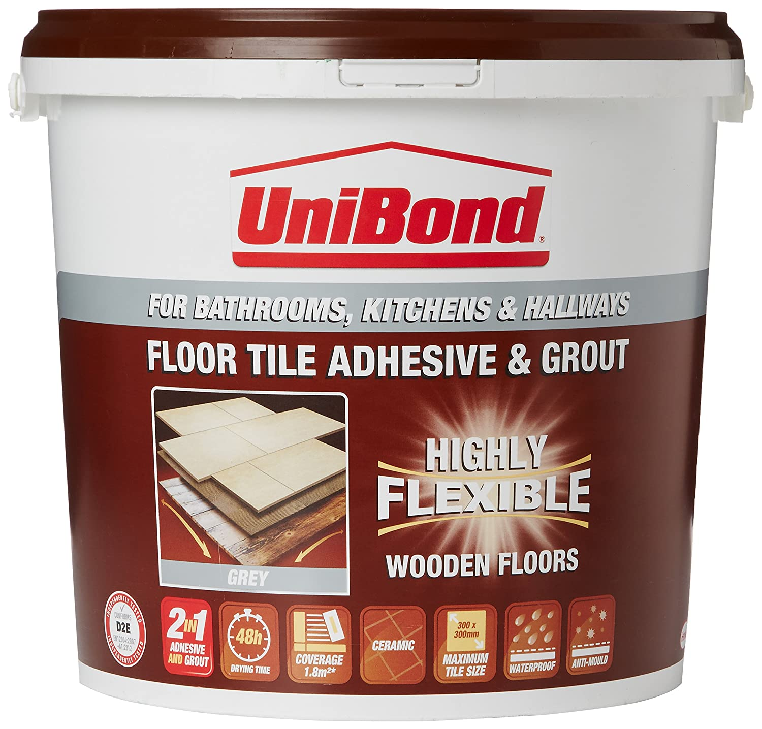 Unibond tiling on wooden floors anti mould flexible waterproof unibond tiling on wooden floors anti mould flexible waterproof adhesive grout large bucket grey discontinued by manufacturer amazon diy tools dailygadgetfo Gallery