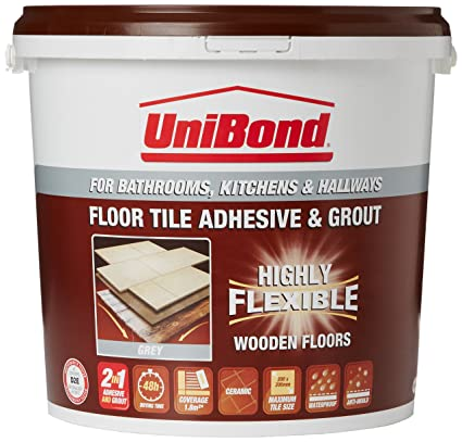 Unibond Tiling On Wooden Floors Anti Mould Flexible Waterproof Adhesivegrout Large Bucket Grey Discontinued By Manufacturer