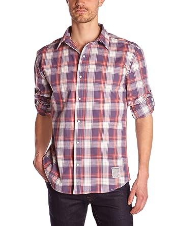 Rica Lewis - Camisa de manga larga para hombre, talla 39, color negro: Amazon.es: Ropa y accesorios