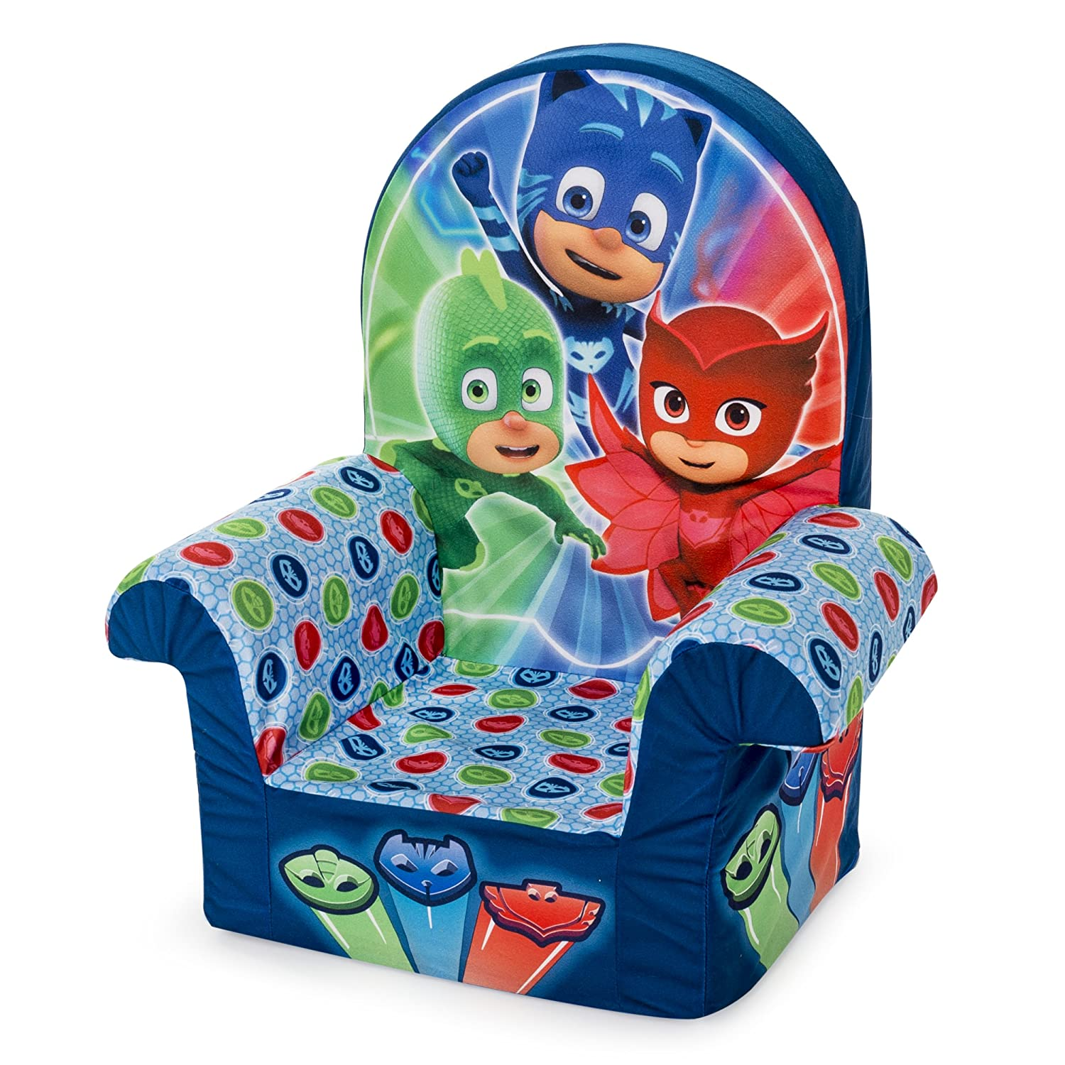 Fabulous Marshmallow Furniture Childrens Foam High Back Chair Pj Masks High Back Chair Andrewgaddart Wooden Chair Designs For Living Room Andrewgaddartcom