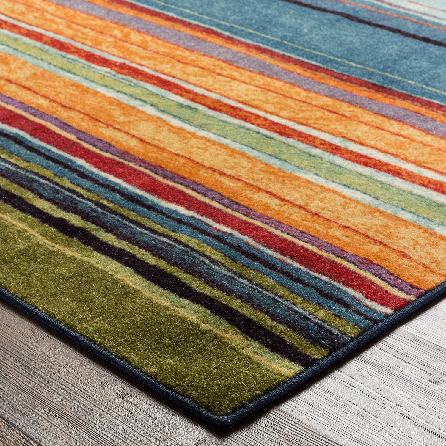 Amazon.com: Mohawk Home New Wave Rainbow Printed Rug, 2u0027x8u0027, Multi: Kitchen  U0026 Dining