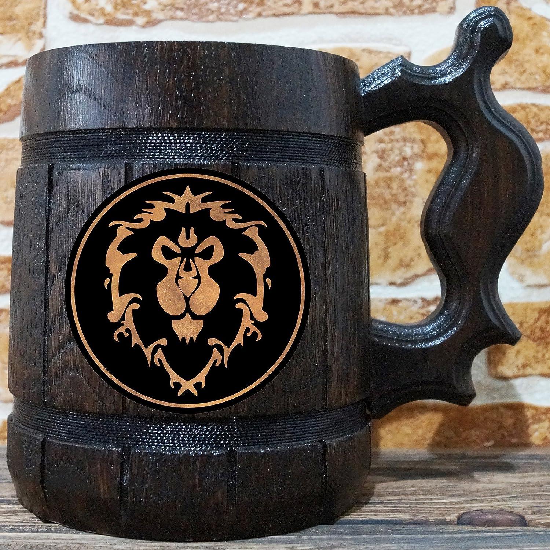 Of Groomsmen TankardGift Wooden GiftWorld Wow SteinGamer Beer Men Alliance MugWarcraft For c4RjAq35L