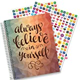 Planner 2018 by Tools4Wisdom Planners - 8.5 x 11 Hardcover w Tabs - First Ever Planner with a Daily Weekly Monthly Yearly Goals Planning System - Spiral | Color Pages | Stickers | Dated Calendar Year