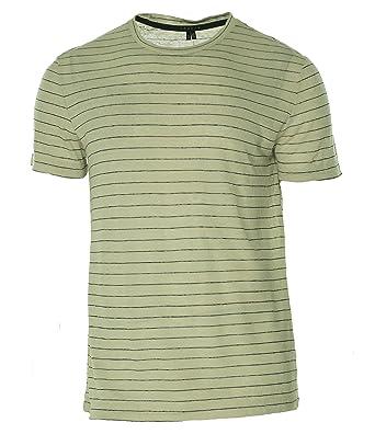 1e55a5684ed Amazon.com: Theory Men's Koree Zephyr Stripe T-Shirt: Theory: Clothing