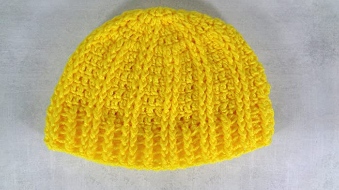 Amazon.com  Bright yellow warm winter beanie hat men and women  Handmade 3a01b5dd8e7