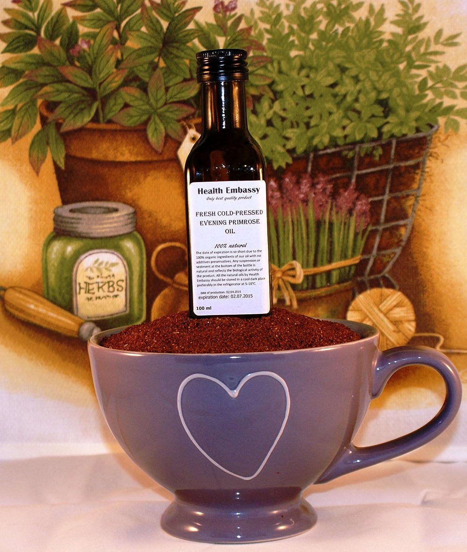 Aceite de Onagra Prensado en Frío 100ml (Oenothera Biennis)  / Fresh Cold Pressed Evening Primrose Oil 100ml - Health Embassy - 100% Natural: Amazon.es: ...