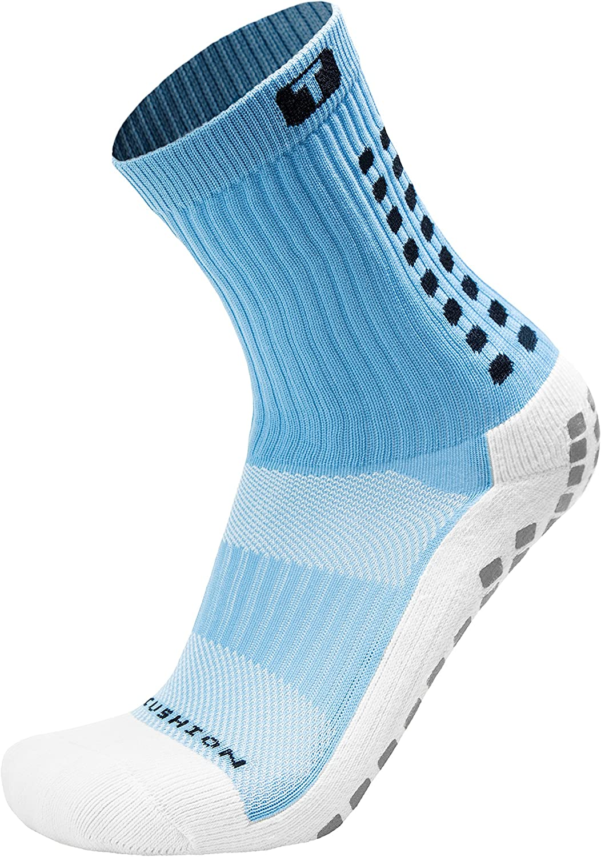 TRUSOX Mid-Calf Crew Cushion Soccer Socks (Pair)