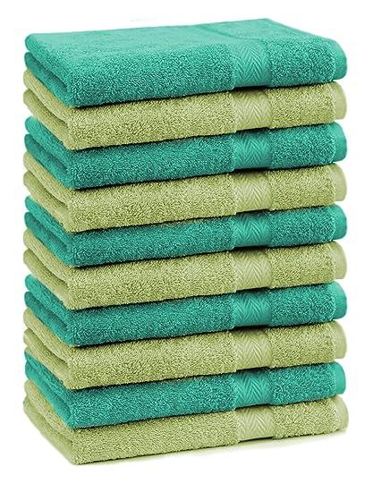 BETZ Paquete de 10 piezas de toallas para invitados Juego de toalla de lavabo 100%