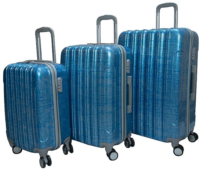 b23eb6afbe4d Amazon.com: Morano 3-Piece Luggage Travel Set Bag ABS/PC Trolley ...