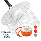 YOO.MEE Music Shower Head with Waterproof Bluetooth Speaker for Music or Phone-White-Portable Outdoor Camping Waterproof Shower Speakers