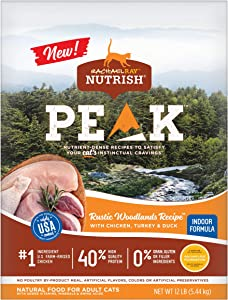 Rachael Ray Nutrish PEAK Nutrient Dense Dry Cat Food, Grain Free