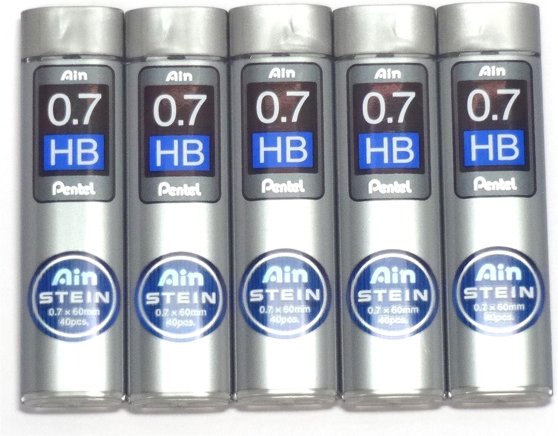 Pentel New Ain Pencil Refill Lead 0.5mm HB 40 Leads Per Tube Japan