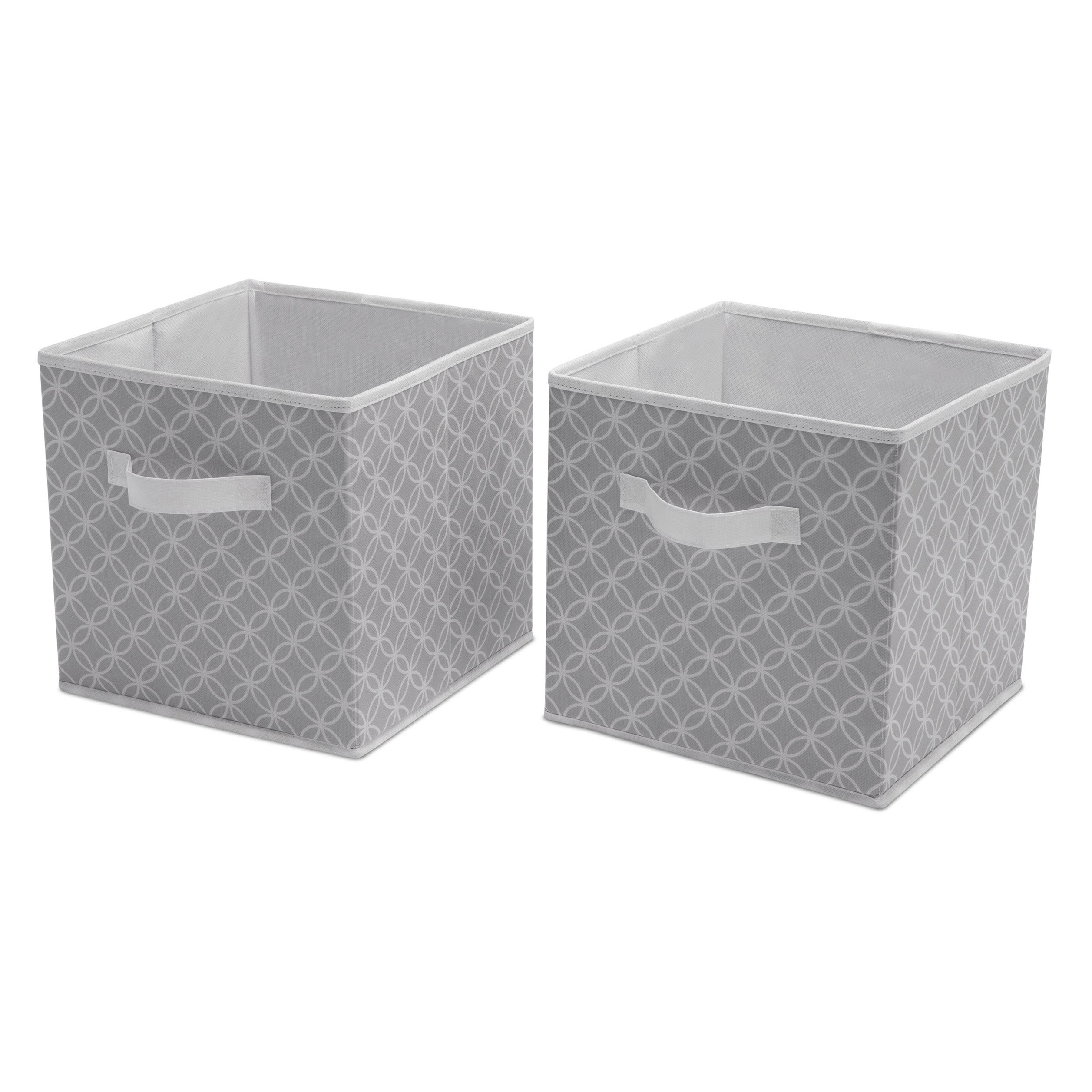 Delta Children Deluxe 2 Storage Water-Resistant Cubes, Infinity/Grey by Delta Children