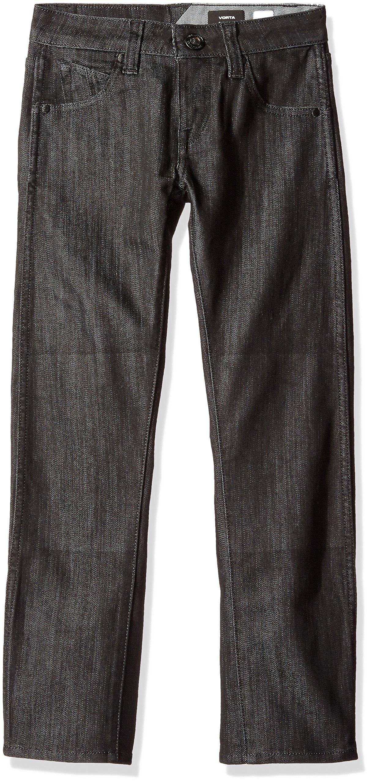 Volcom Big Boys' Vorta Form Jeans, Black Top, 22