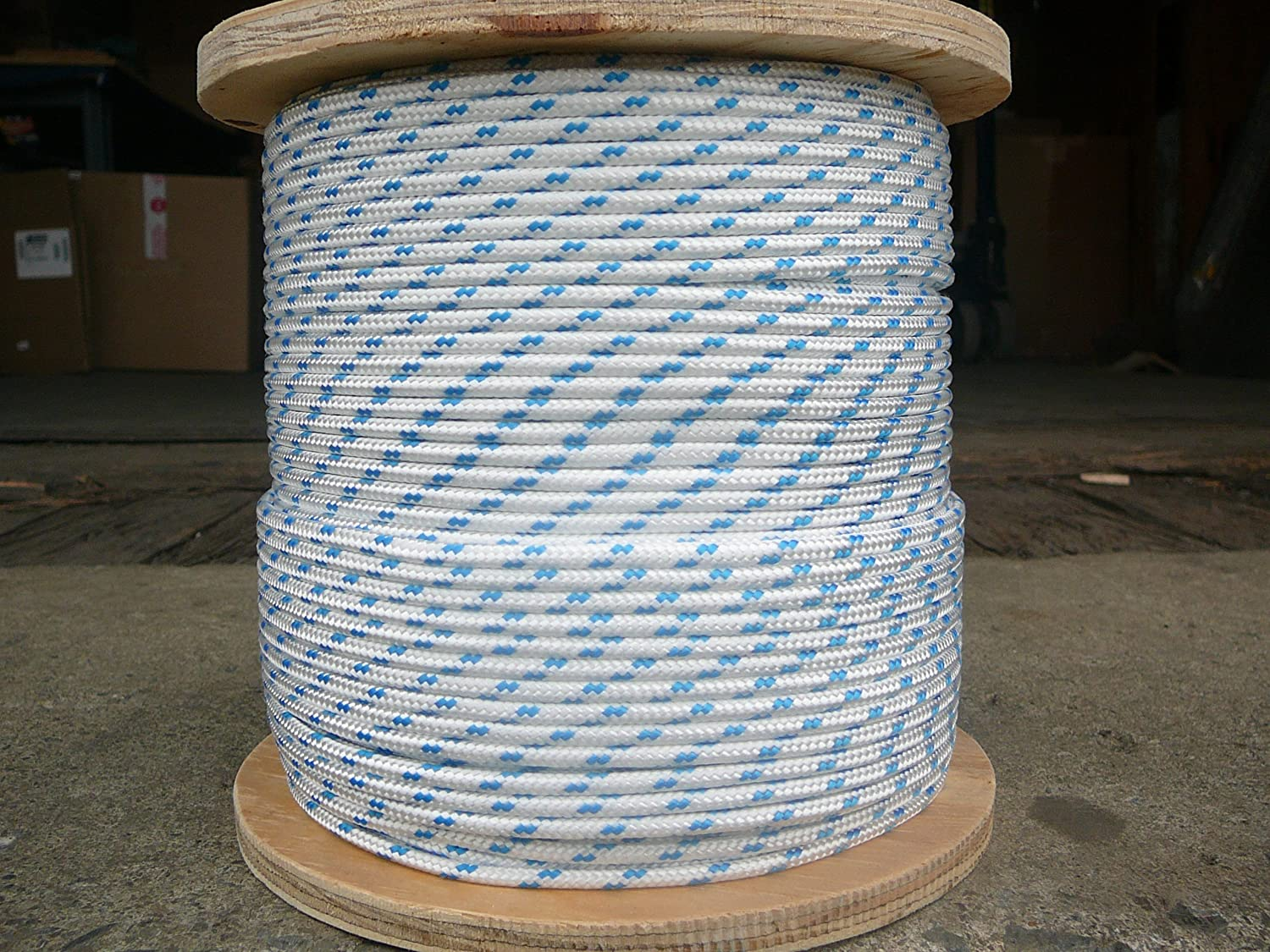 "Dacron Sailboat Rope 3//16/"" x 50/' White//Red NovaTech XLE Halyard Sheet Line"