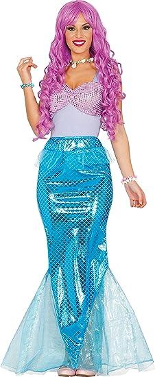 Guirca- Disfraz adulta sirena, Talla 38-40 (84583.0): Amazon.es ...