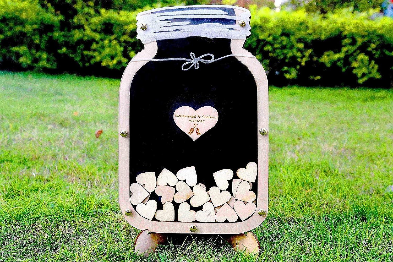 Mason Jar guest book, Wedding guest book alternative, Drop Box Mason Jar, Unique wedding Wedding Sign Frame, wooden Drop Box