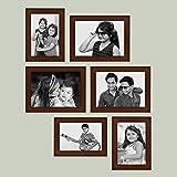 AJANTA ROYAL Collage Photo Frames (Set of 6, Wall Hanging - Brown) : A-93B