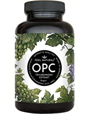 OPC Kapseln - 860mg Traubenkernextrakt mit 600mg OPC je Tagesdosis. Höchster OPC Gehalt nach HPLC. 180 Kapseln. Aus französischen Weintrauben. Laborgeprüft, vegan, hergestellt in Deutschland