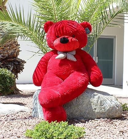 Red Teddy Bear 5 Feet, Amazon Com Giant 63 5 Ft 3 In Red Teddy Bear Stuffed Plush Toy From Joyfay Toys Games