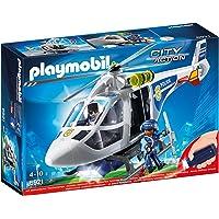 Playmobil 6921 helicóptero de la Policía con vistas luz, multicolor