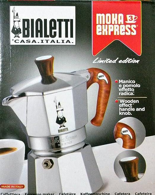 Bialetti Moka express - Cafetera (Aluminio, Madera, Estufa ...