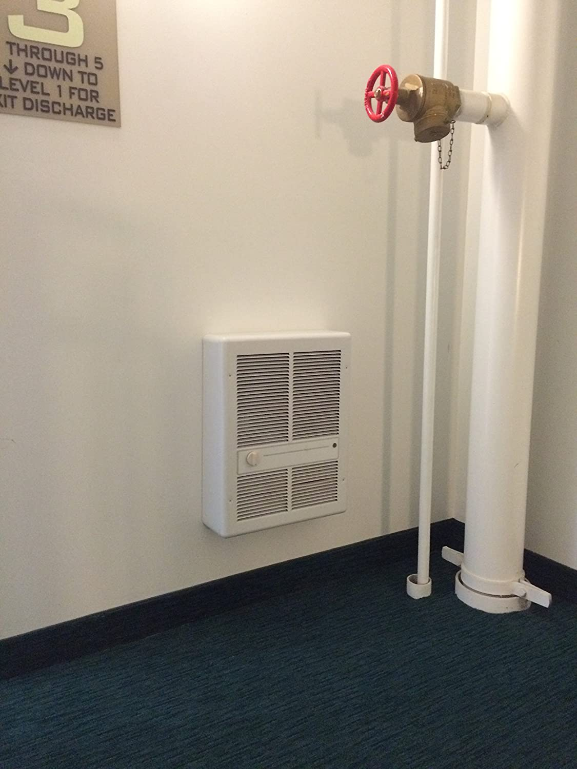 TPI H3317T2RP Series 3310 Fan Forced Wall Heater with in-Built Double Pole Thermostat 4800 W Ivory Without Summer Fan Switch 22lbs Weight
