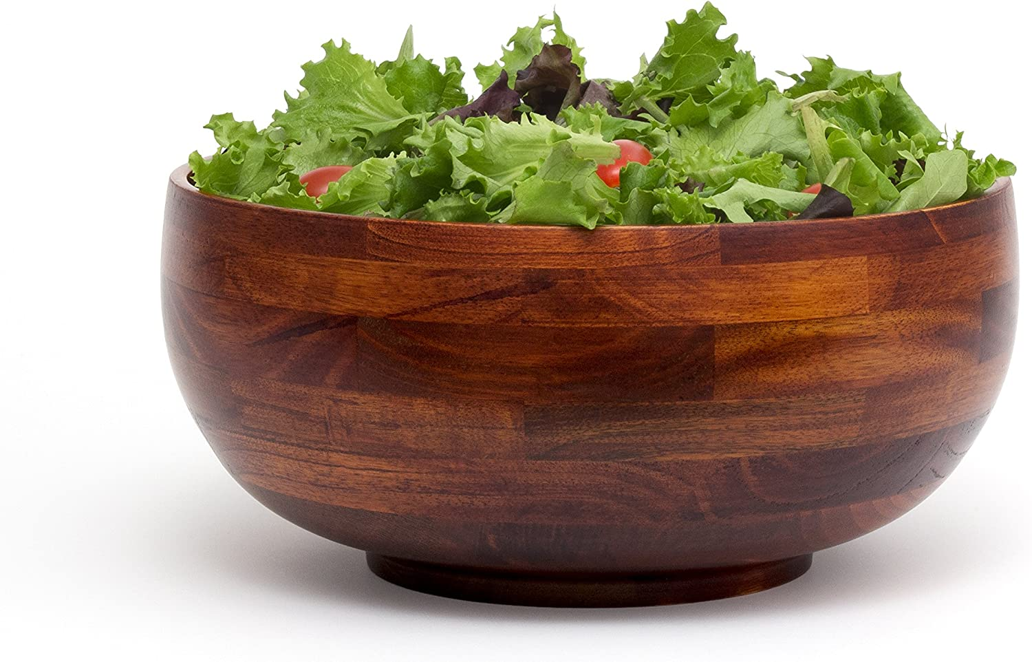 Single Bowl 12 Diameter x 5 Height Large Lipper International 224 Cherry Finished Footed Rice Serving Bowl