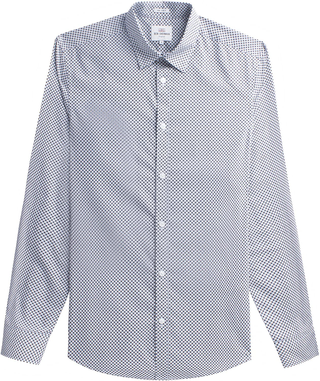 Ben Sherman LS Optic Dash Dot Camisa Casual, Azul (Navy Blazer 25), XL para Hombre: Amazon.es: Ropa y accesorios